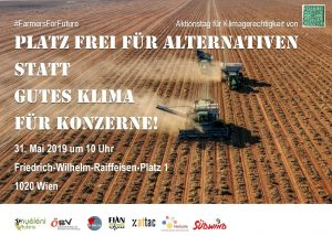 Aktion und Kundgebung #FarmersForFuture @ Friedrich-Wilhelm-Raiffeisen-Platz 1, 1020 Wien