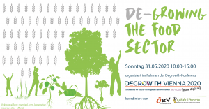 De-growing the food sector: Consecutive Session on Food at the Degrowth Conference @ Online (BigBlueButton)