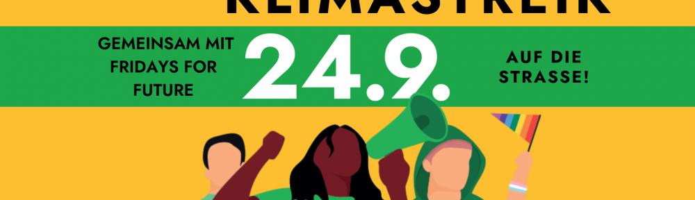 Weltweiter Klimastreik Banner